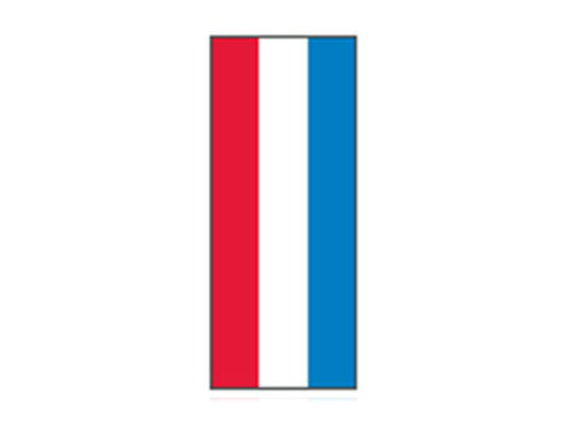 Fita Em Folha Colorida Vermelho/Branco/Azul 6mm